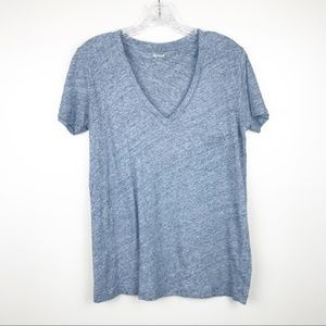Madewell XS  v-neck pocket t-shirt gray